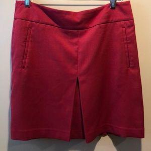 Ann Taylor loft red mini skirt
